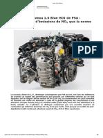 Ford FIESTA Diesel revue technique EA 220