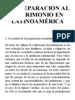 LA PREPARACION AL MATRIMONIO EN LATINOAMÉRICA