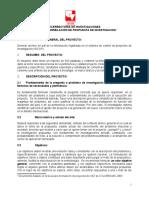 Formato propuestas Anteproyectos de Grado - Univalle