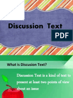 Contoh ppt Discussion text