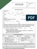 Cerere Depunere Bilant ONRC - F10