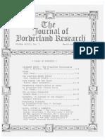 Journal of Borderland Research Vol XLIII No 2 March April 1987