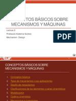 Lecture 2 Conceptos Basicos de Teoria de los Mecanismos