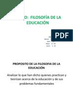 CONCEPTULIZACION FILOSOFÍA Y EDUCACIÓN