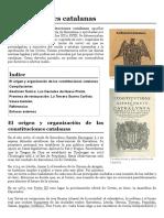 Constituciones catalanas