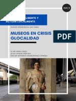 """Curso en línea """"Museos en Crisis y Glocalidad"""""""
