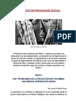EDUCACIÓN EN COLOMBIA - PEDAGOGÍA SOCIAL