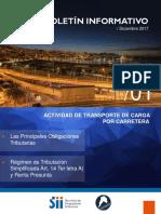 boletin transporte de carga Chile