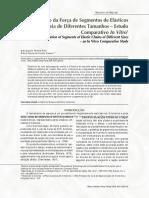 A Degradação da Força de Segmentos de Elásticos em Cadeia de Diferentes Tamanhos – Estudo Comparativo In Vitro1.pdf