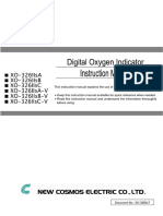 oxygen gas detector XO-326IIs manual