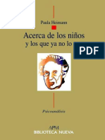 ACERCA DE LOS NIÑOS, Y LOS QUE YA NO LO SON - Paula Heimann