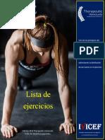 Lista Ejercicios core Therapeutic Venezuela