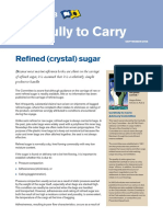 Refined crystal sugar