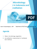 Regulation of water microbiology in Indonesia 11 Juli 2019