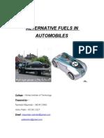 alternative fuels in automobiles(2)