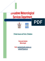 Climate Issues and Facts- Zimbabwe - Dept of Met