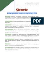 El análisis macroeconómico (GLOSARIO)