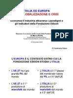 Decennale Fondazione Edison Italia Ed Europa Tra Globalizzazione e Crisi Per Aspen_nov2010
