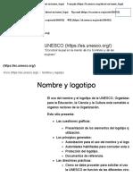 uso del logotipo UNESCO