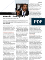 """US Mulls Climate Policy"" - TCE Today/the Chemical Engineer (iChemE, UK)"