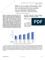 """Analysis of the Effects of Location, Promotion, and Service Quality on Buying Decision and the Implication on Customer Satisfaction"""" (Taman Walet 1 Indomaret, Pasar Kemis, Tangerang, Banten)"""