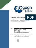 Ocean Insight USB2000+ Operating Instructions