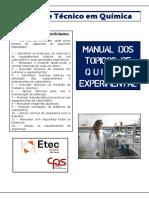 1 Técnicas de Química Experimental Manual de Tqe 2016 v3