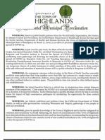 2020 0325 Supplemental Municipal Proclamation Highlands