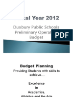 FY12 Operating Budget Presentation