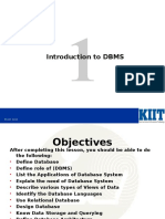 Intoduction to DBMS