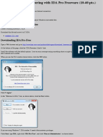 126 Proj 2x Reverse Engineering with IDA Pro Freeware (10-40 pts.)