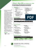 Ssc825 Spec Sheet