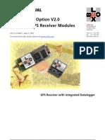 USER'S MANUAL Datalogging Option V2.0 for μ-blox GPS Receiver Modules(GPS G1-X-00011)
