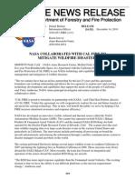 NASA & CALFIRE Parternership Agreement
