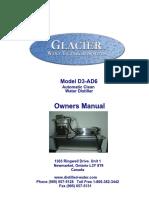 Glacier D-3AD Manual