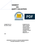 equity evaluation models