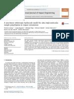 A non-linear orthotropic hydrocode model for ultra-high molecular weight polyethelene