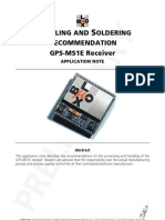 HANDLING AND SOLDERING RECOMMENDATION GPS-MS1E Receiver APPLICATION NOTE (GPS G1-X-01021)