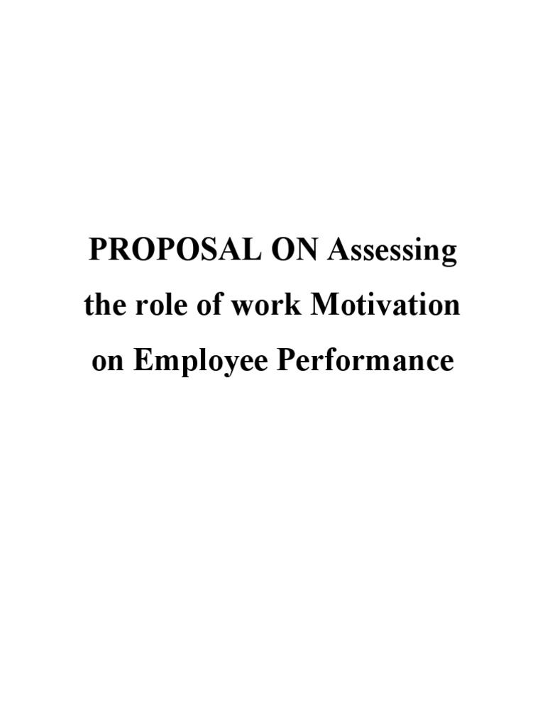 Help on dissertation motivation of employees