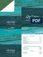 Carta Restobar Las Delicias Linares