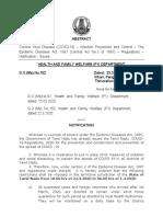 Tamil Nadu Detailed Notification COVID-19 23-3-2020
