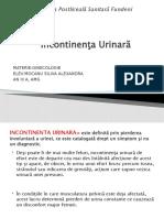Incontinenta urinara ppt
