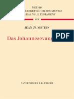 Zumstein, Das Johannesevangelium
