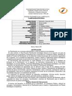 Programa de Planificación Estratégica - Contaduría