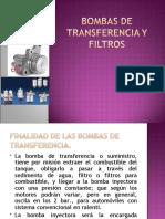 BOMBAS DE TRANSFERENCIA Y FILTROS