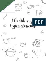 Tabla de Medidas y Equivalencias
