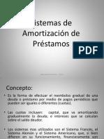 Sistemas de amortizaciones de prestamos