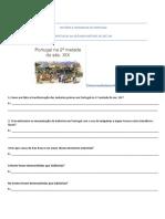 teste hgp portugal sec XIX desenvolvimento industrial