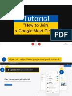 How to Join a Google Meet Class