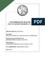 2020 Didáctica Especial y Prácticas de la Enseñanza Programa (1).doc